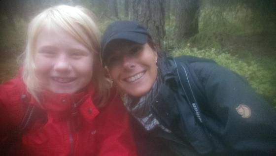 Elise och Cicci i Kristinehamns skogar